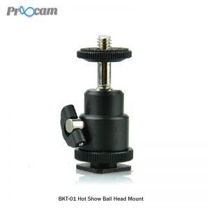 Proocam Mini Ball Head for Camera DSLR Hot shoe mount BRK-01