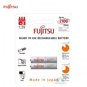 Fujitsu Rechargeable AAA Ready to use  Battery 800mah (2100 Cycle) 2pcs Pack HR-4UTCEX(2B)
