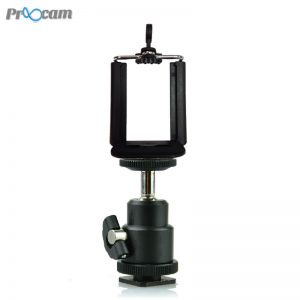 Proocam Mini Ball Head mount BRK-01 with Mobile Holder for Phone bracket to DSLR Camera