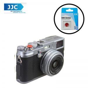 JJC SRB-C11DR Dark Red Metal Soft release button finger touch  for Sony Leica Fujifilm X10 X20 X30 X100T X100
