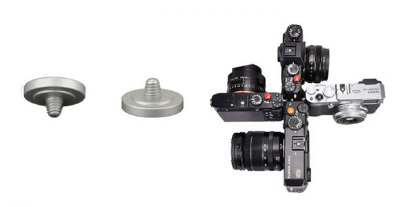 JJC SRB-C11S Silver Metal Soft release button finger touch  for Sony Leica Fujifilm X10 X20 X30 X100T X100