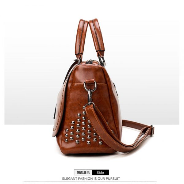 Delly Fashion Women Bag Leather Handbag Luxury Ladies Shoulder Beg BLACK - LHL-BK
