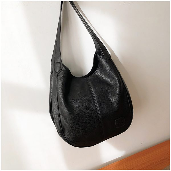 Delly New Luxury Women Bags Designers Handbags Vintage Leather Handbag Ladies Hand Bag Sling Bag Black LWD-BK