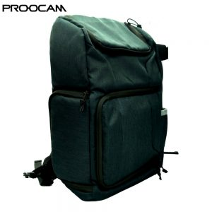 "Proocam 1109 Professional Camera laptop 14"" Backpack Waterproof for Travel Photography DSLR Camera Bag Dark Green"