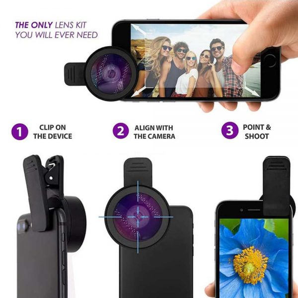 Apexel 0.45X Super Wide Angle 12.5x Super Macro HD Lens for mobile phone  (APL-0.45WM)