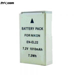 Proocam Viloso EN-EL22 rechargeable Camera battery for Nikon 1 J4, Nikon 1 S2 Cameras