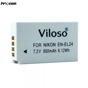 Proocam Viloso EN-EL24 rechargeable Camera battery for Nikon 1 J5 Mirrorless Digital Camera