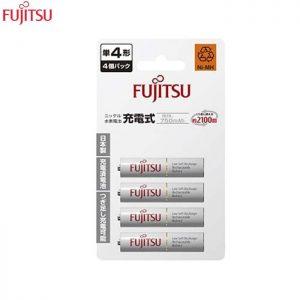 Fujitsu 4pcs AAA 750Mah rechargeable Battery (2100cycle time) -HR-4UTC Japan Version
