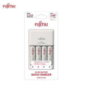 Fujitsu Quick Charger 2hr set with Battery 2000mah 2100cycle time (Made in Japan)