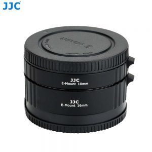 JJC AET-SES(II) 10mm 16mm Automatic Extension Tube Auto Focus Adapter Ring Fits Macro Photography For Sony E Mount A7 A6000 A6300 A6500