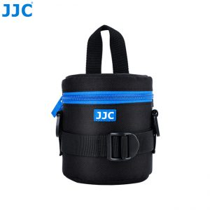 JJC DLP-1II Water Resistant Deluxe Lens Pouch with Shoulder Strap fits Lens Size below 78 x 125mm