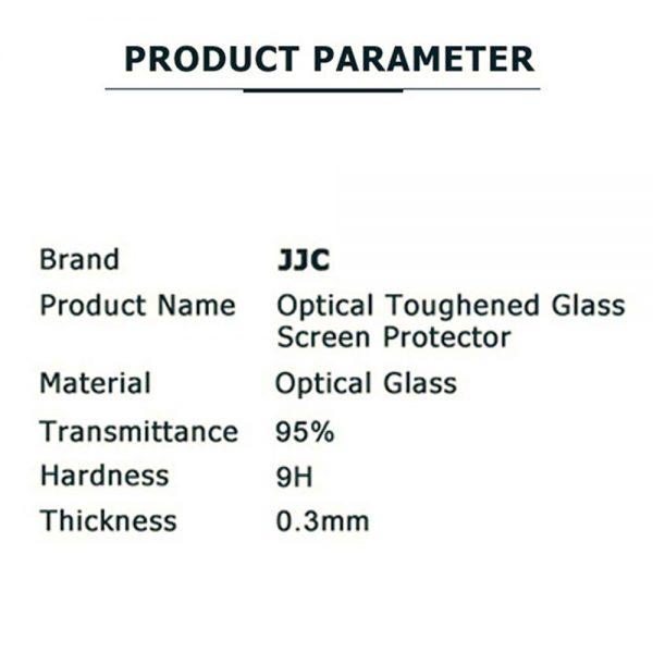 JJC GSP-CLUX Leica C-LUX Panasonic DMC-ZS200/ZS220/TZ200/TZ220/TX2 Ultra-Thin 9H 2.5D Tempered Glass Clear LCD Screen Protector