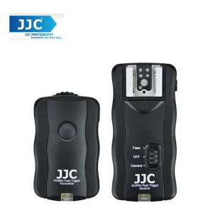 JJC JF-U1 433MHz Wireless Flash Trigger with Shutter Strobris For Canon Nikon DSLR Camera