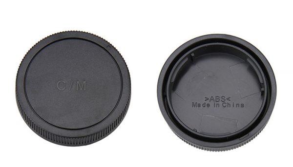 JJC L-R15 Rear lens Cap and Body Cap for Canon EOS-M