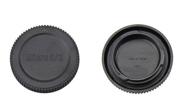 JJC L-R7 Body and Rear Lens Cap Olympus M4/3 Lens Camera Cover