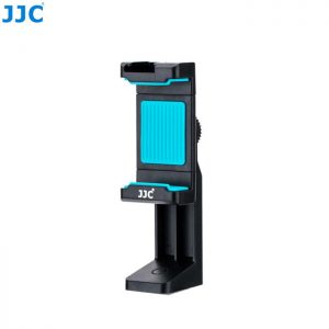 JJC SPS-1A Blue Smart Phone Stand holder 56-105mm Clip with Hot Shoe for Led Light