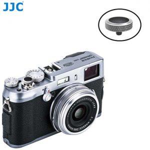 JJC SRB-GR Black Convex Metal Soft Release Button for Fujifilm Leica Cameras (Gray Black)