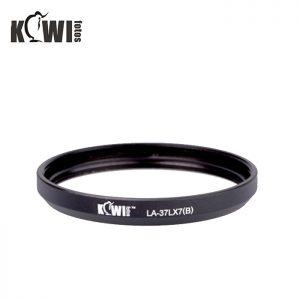 KIWIFOTOS LA-37LX7(B) Filter Adapter for Panasonic DMC-LX7 or Leica D-Lux 6 (Black)