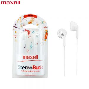 Maxell EB-95 Earphone Stereo Earbuds for Samsung, Oppo, Laptop -White
