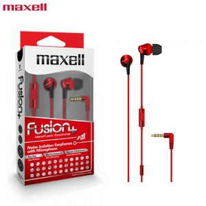 Maxell Fusion+ Ear Buds with Built-in earphone Microphone Fury for Mobile Phone