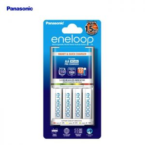 Panasonic 1.5hrs Quick Charger Eneloop with 4 AA 2000mah rechargeable Battery Set (K-KJ55MCC40E)