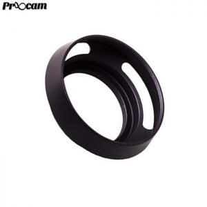 PROOCAM 37mm Metal Lens Hood Shade for Leica Nikon canon Fujifilm Olympus Lens Black (MLH-37B)