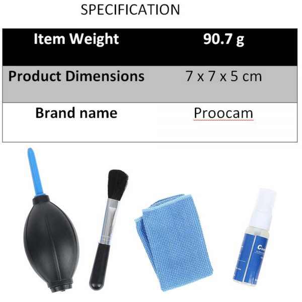 Proocam 4N 4 in 1 Cleaning kits Tools equipment  for Camera Lens Laptop