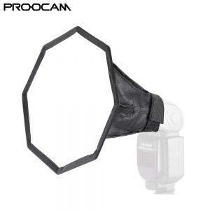 Proocam DF-02 20cm Octagon Universal Softbox Flash Diffuser for Speedlit flash light Nikon Canon Sony Olympus
